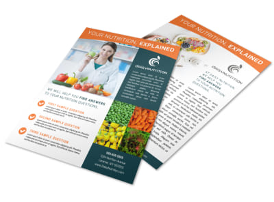 Nutrition Explained Flyer Template preview