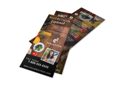 Healthy Nutrition Flyer Template preview
