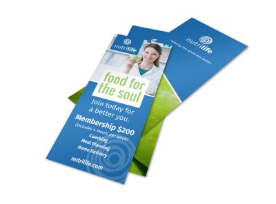 Nutrition Membership Flyer Template preview