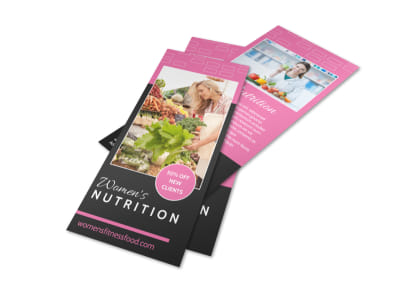 Women's Nutrition Flyer Template preview