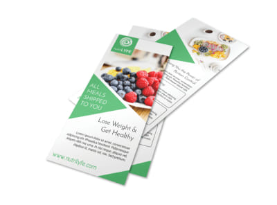 Nutrition Meals Flyer Template preview