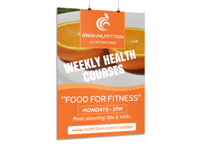Health Courses Poster Template preview