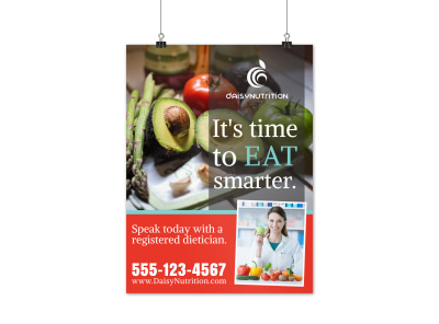 Eat Smarter Nutrition Poster Template
