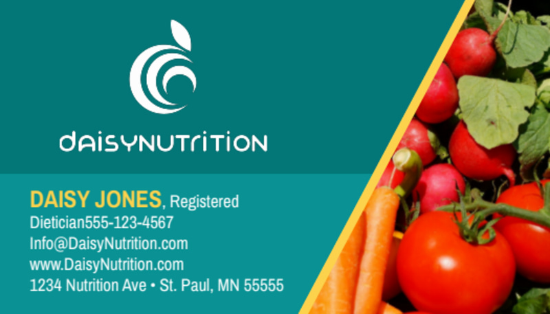 Fresh Nutrition Business Card Template Preview 2