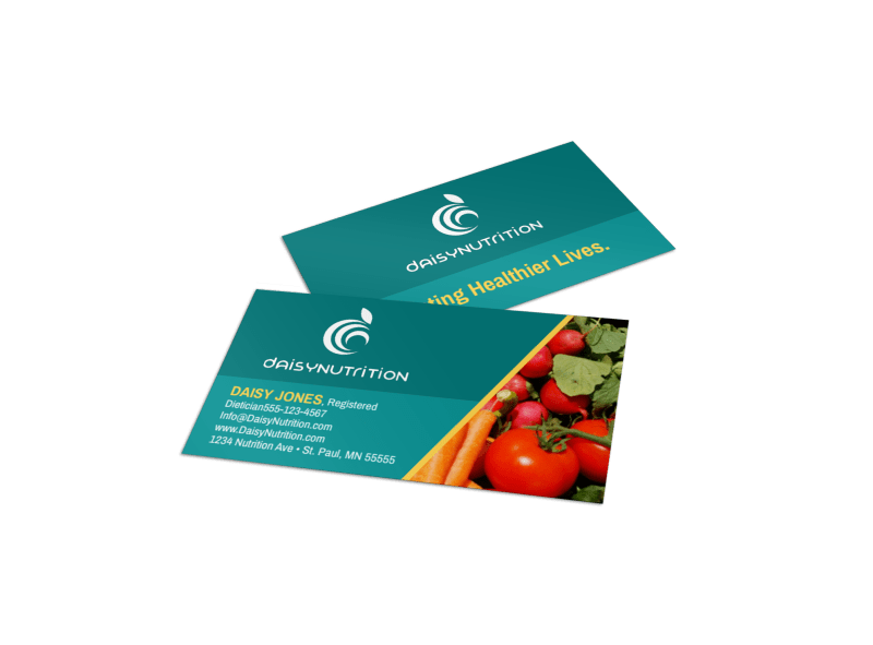 Fresh Nutrition Business Card Template Preview 1