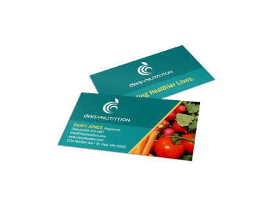 Fresh Nutrition Business Card Template preview