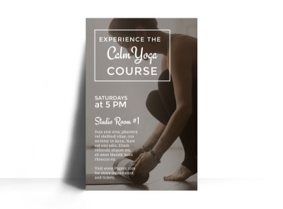 Calm Yoga Course Poster Template