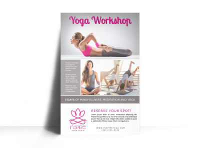 Yoga Workshop Poster Template preview