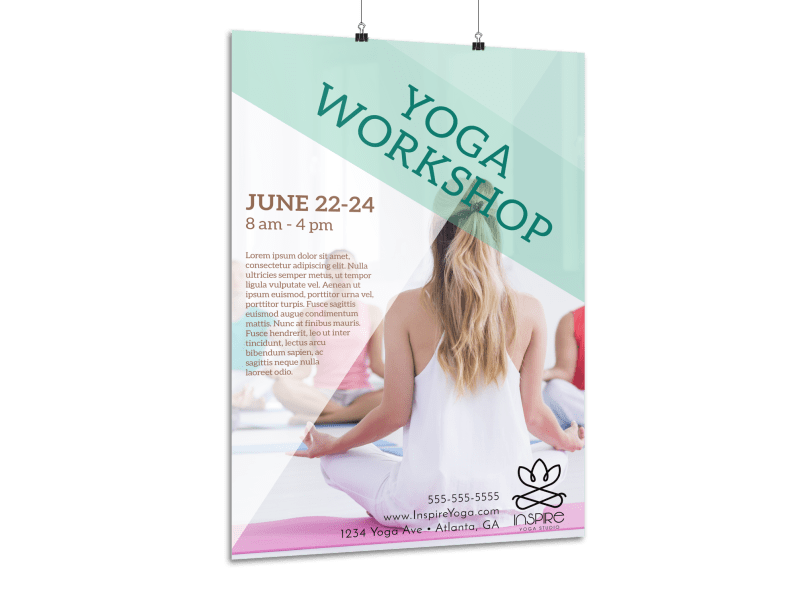 Inspiring Yoga Workshop Poster Template Preview 1