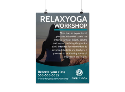 Relax Yoga Workshop Poster Template preview