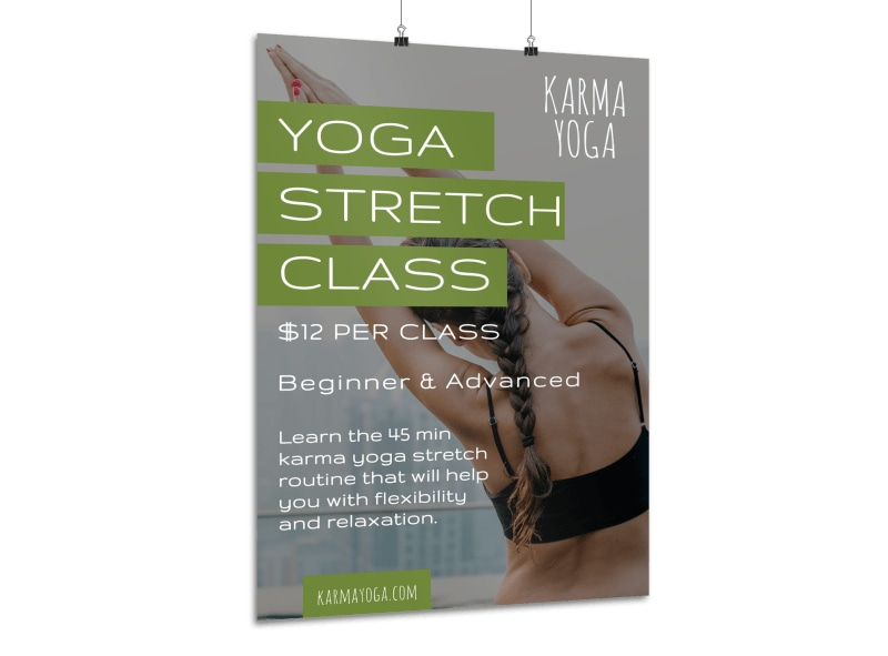 Yoga Stretch Class Poster Template