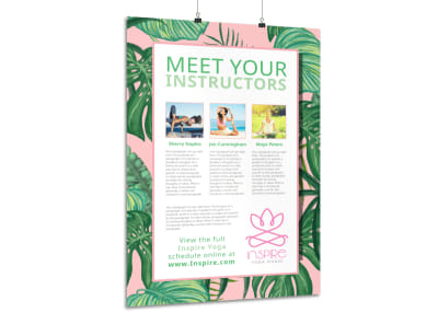 Yoga Instructor Intro Poster Template preview