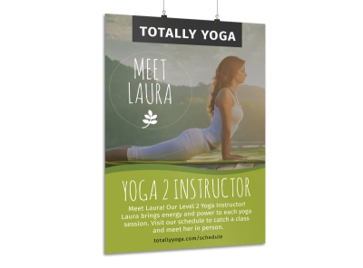 Totally Yoga Poster Template preview