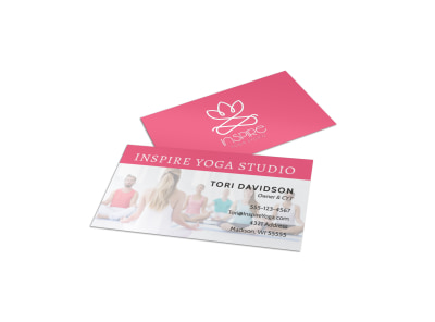 Inspiring Yoga Business Card Template preview