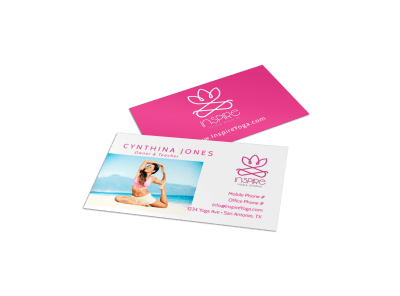 Yoga Business Card Templates Template Preview