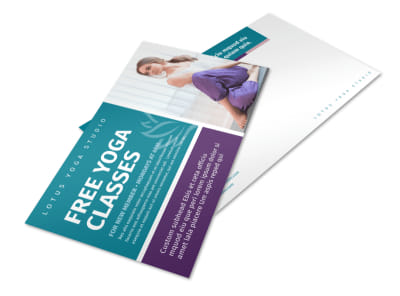 Yoga Class Promo Postcard Template preview