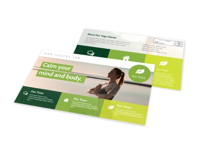 Calm Yoga EDDM Postcard Template