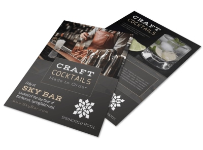 Craft Cocktail Flyer Template preview