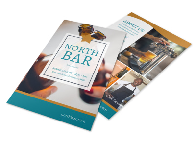 North Bar Flyer Template preview