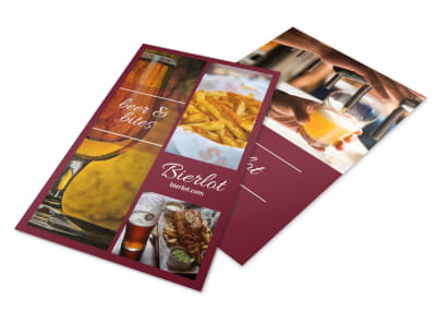 Bar Beer Flyer Template