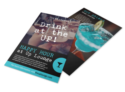 Bar Happy Hour Flyer Template preview
