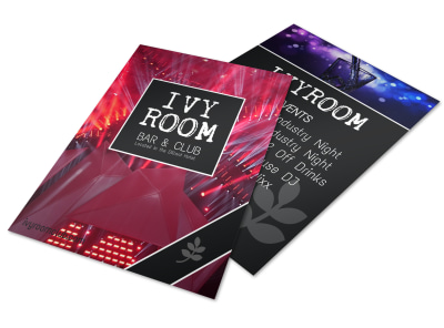 Ivy Room Bar Flyer Template preview