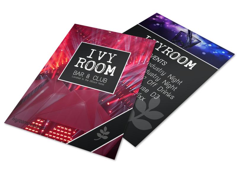 Ivy Room Bar Flyer Template