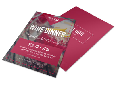 Wine Dinner Flyer Template preview