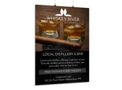 Whiskey Bar Poster Template preview