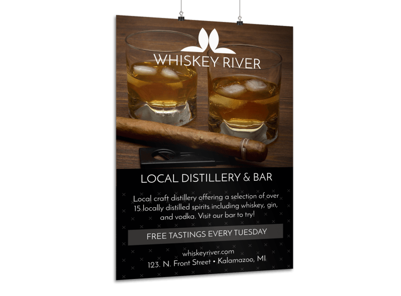 Whiskey Bar Poster Template