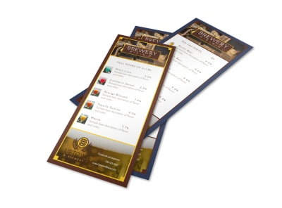 Drink Bar Menu Template