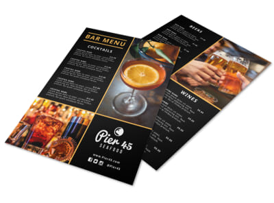 Beautiful Bar Menu Template preview