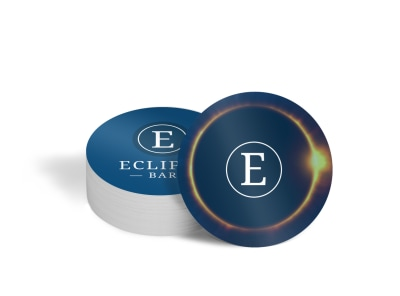 Eclipse Bar Coaster Template preview
