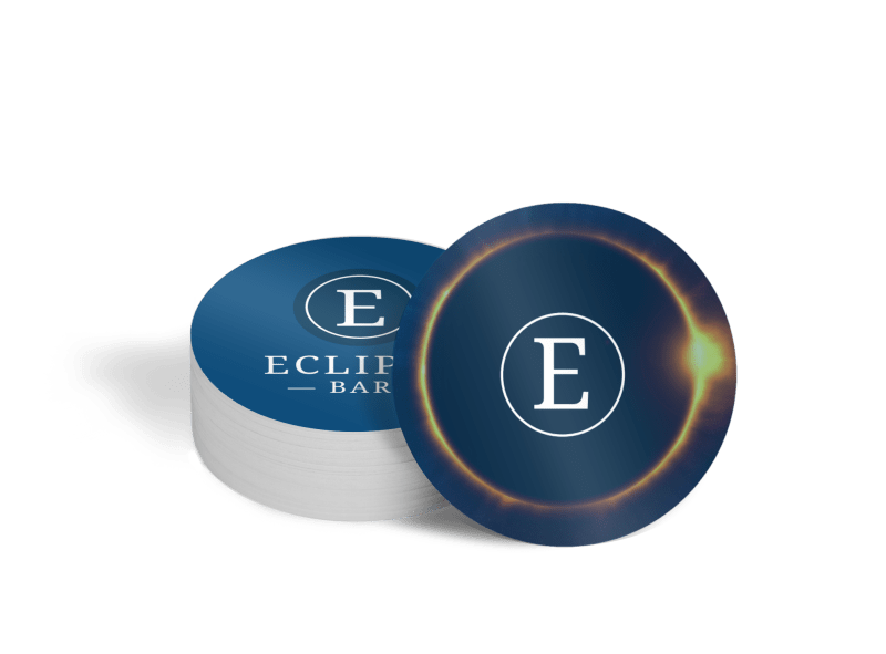 Eclipse Bar Coaster Template Preview 1