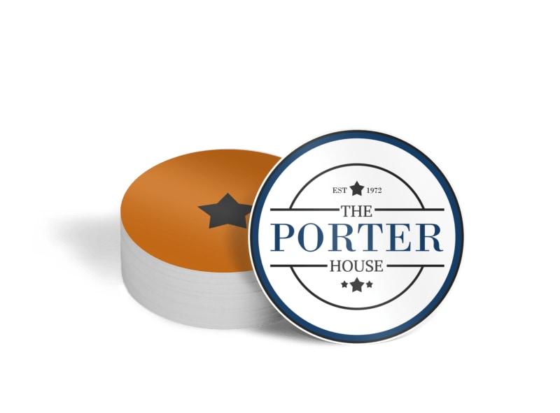 Porter Bar Coaster Template