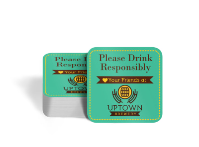 Drink Responsibly Coaster Template preview