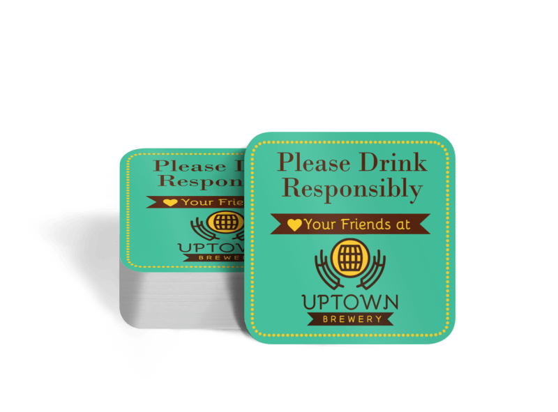 Drink Responsibly Coaster Template Preview 1