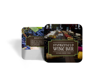 Wine Bar Coaster Template preview