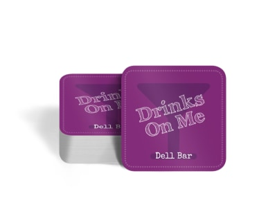 Bar Drink Coaster Template preview