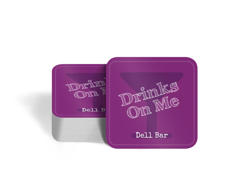 Bar Drink Coaster Template Preview 1