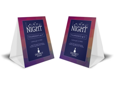 Ladies Night Bar Table Tent Template preview