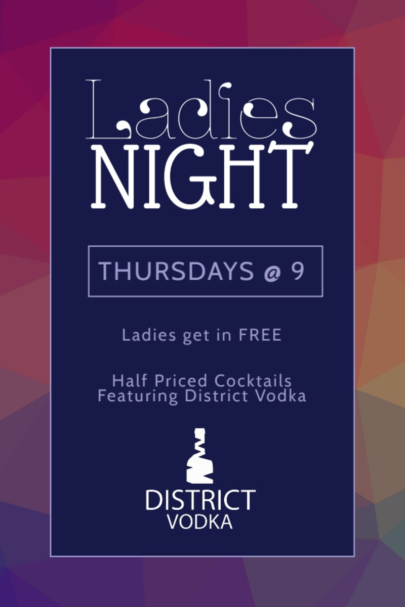 Ladies Night Bar Table Tent Template Preview 2