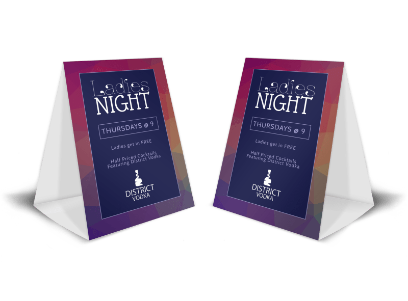 Ladies Night Bar Table Tent Template Preview 1