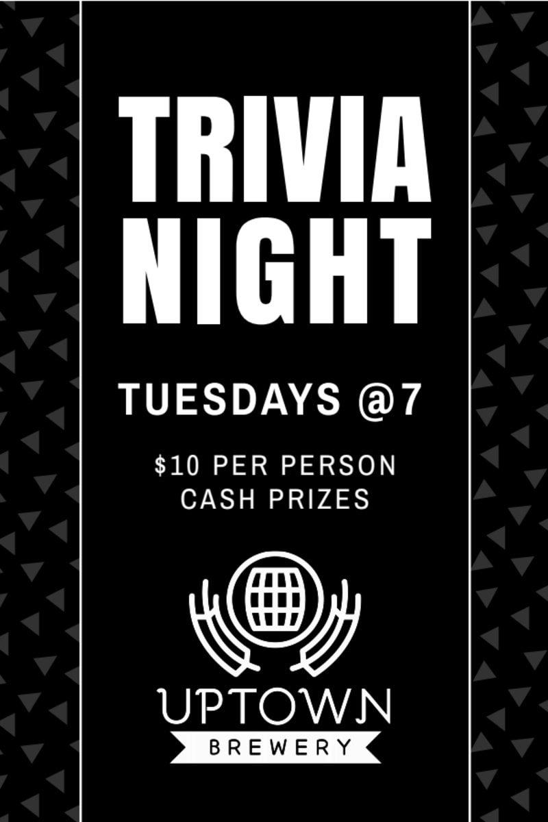 Bar Trivia Night Table Tent Template Preview 2