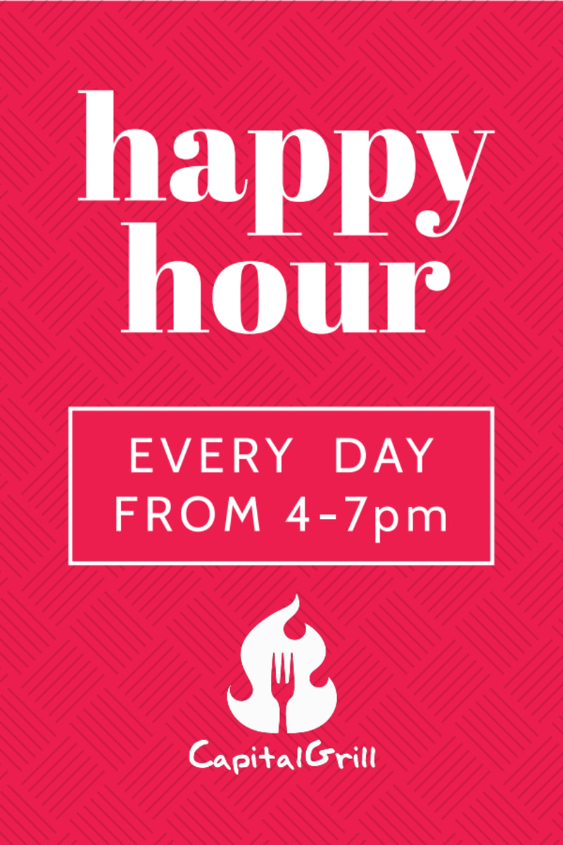 Pink Happy Hour Table Tent Template Preview 2