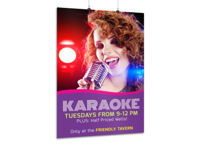 Karaoke Bar Poster Template preview