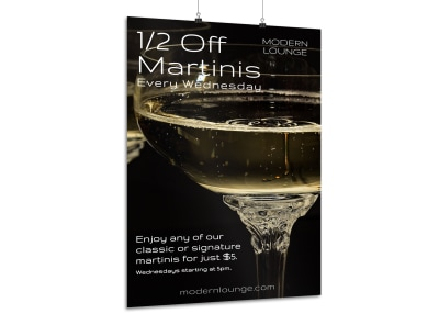 Martini Bar Poster Template