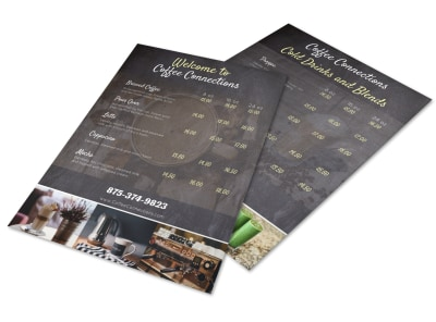 Black Coffee Shop Menu Template preview