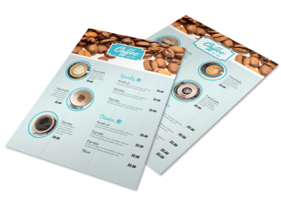 Awesome Coffee Shop Menu Template preview