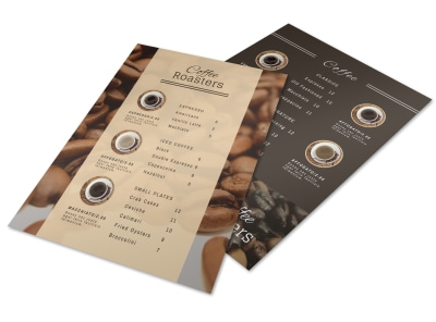 Classic Coffee Shop Menu Template